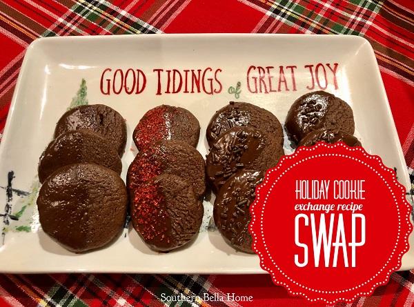 Holiday Cookie Exchange Recipe Swap (Chocolate Heaven Mocha Slice Cookies)