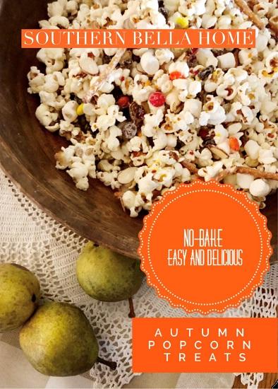 No-Bake Easy and Delicious Autumn Popcorn Treats